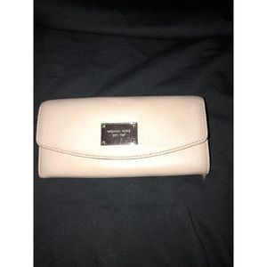 Michael Kors Leather Cement Wallet